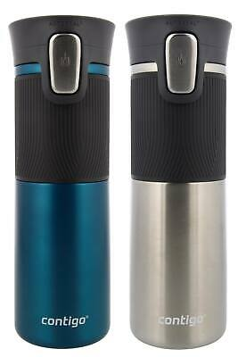Contigo 2-pack Autoseal Spill - Proof Travel Mug ( Biscay Bay/Stainless Steel )