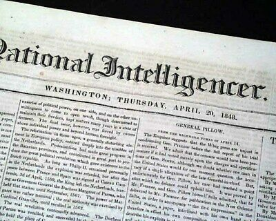 Early & Unknown ABRAHAM LINCOLN as Illinois Representative Vote 1848 Newspaper