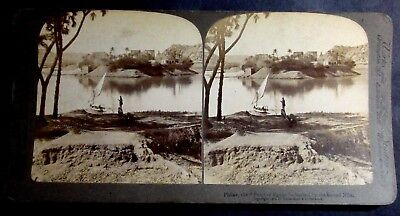 1902 Stereoview Card Philae, The Pearl Of Egypt Bathed By The Sacred Nile River