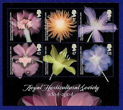 GB 2004 Commemorative Stamps~Horticultural ~RHS~ M/S~Unmounted Mint Set~UK
