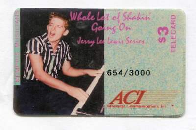 1993 Jerry Lee Lewis $3.00 Phone Calling Card ACI Telecard - Issue of 3,000
