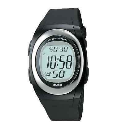 Casio FE10-1A,  Chronograph,  Digital Black Resin Watch, Alarm
