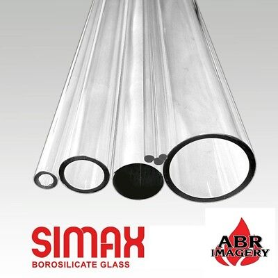 Glass - 33 COE – 22mm x 3mm OD Simax Clear Tubing Borosilicate - 5 Pieces