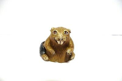 "Thimble Handpainted Pewter Tcc's The Thimble Zoo Collection ""Beaver"" Htf"