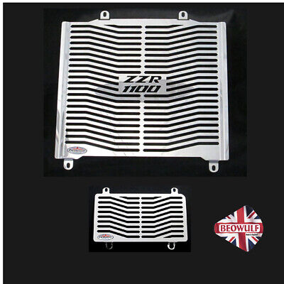Kawasaki ZZR1100 C (90 - 93) Stainless Steel radiator & oil cooler guards