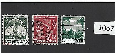 #1087    Stamp set /  Nazi Swastika / Nazi Germany / Third Reich / 1935-1936