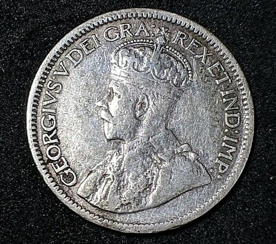 1919 Canada 10 Cents - World Silver Coin Better Condition