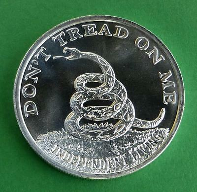 Dont Tread on Me 1oz .999 Fine Silver Bullion .999 Fine Round Boston Tea Party