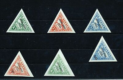 LATVIA 1933 Airmail Triangulars Africa MNH Incl.Signed (Zc421s