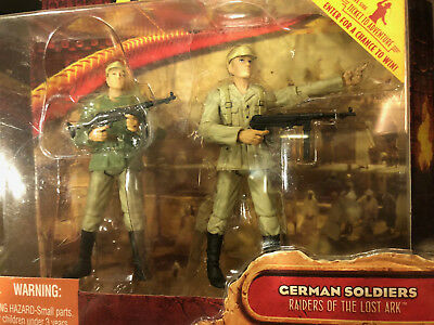 "Indiana Jones Raiders of the Lost Ark Indy GERMAN SOLDIERS 3.75"" Figure HASBRO"