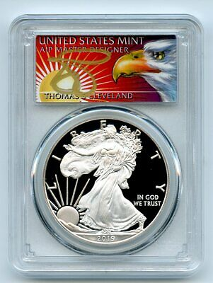 2019 W $1 Proof Silver Eagle PCGS PR70DCAM FS 1 of 500 Thomas Cleveland Eagle