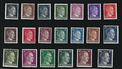 Adolph Hitler stamp set / 1941-1944 Third Reich / 20 all different MNH stamps