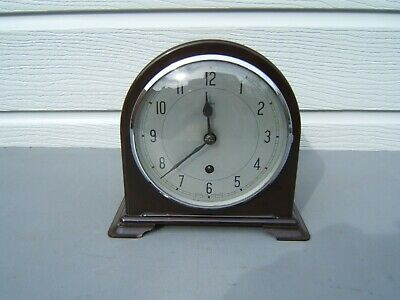 Enfield Bakelite mantel clock working cleaned polished shiny B6