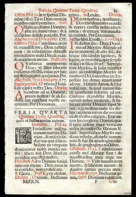 Sequential Leaf Lot (6) 1676 Roman Missal The Season of Lent Easter Resurrection
