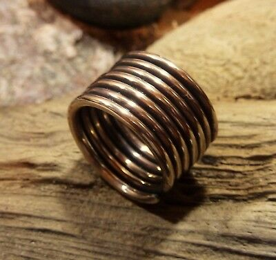 Ancient Viking  Bronze Spiral Ring .