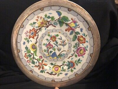 "Antique Sterling Wedgwood Hand Painted 12"" plate"
