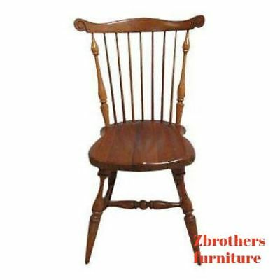 Vintage Duckloe Bros Plank Bottom Windsor Back Dining Room Desk Side Chair C