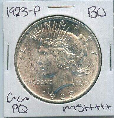 1923-P Peace Dollar Uncirculated US Mint Coin PQ Gem Silver Coin BU Unc MS++++++