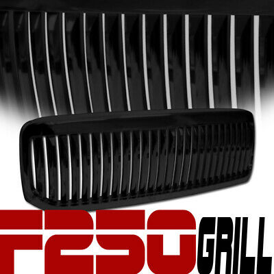 99-04 Ford F250/F350 Superduty/Excursion Black Vertical Front Hood Grill Grille