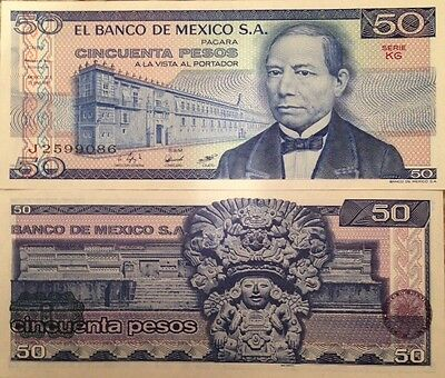 Mexico 1981 50 Pesos Unc Banknote Serie Kg P-73 Juarez Buy From A Usa Seller