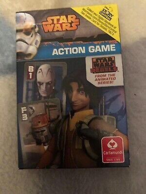 Star Wars Rebels Action Game Happy families Card games by Disney Free Postage!