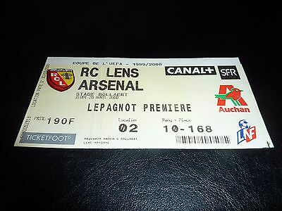 used ticket Rc lens - Arsenal  20/04/2000
