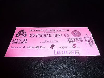 used ticket ruch chorzow - inter milano 2000