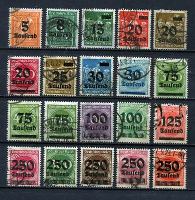 German Reich : Large Inflation era set from 1923 - used !!!