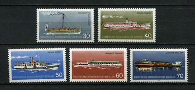 Germany - Berlin : Beautiful Passenger ship set from 1975 - mint NH