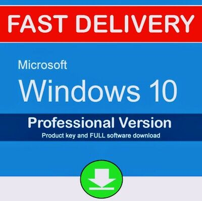 ✓Microsoft Windows 10 Pro Professional Key Vollversion Code 32 - 64 Bit Product
