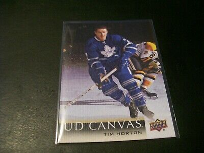 2018/19 Upper Deck Series 2 Tim Horton Retired Stars Canvas Card