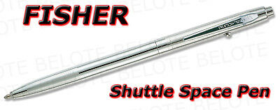 Fisher Chrome Shuttle Space Pen Retractable CH4 **NEW**