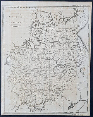 1770 Andrew Bell Antique Map of Russia in Europe