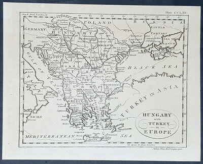 1770 Andrew Bell Antique Map of Hungary & Turkey in Europe