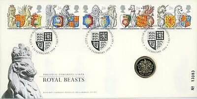 GB 1998 The Queen's Beasts Royal Mail/Mint £1 Coin Numismatic FDC