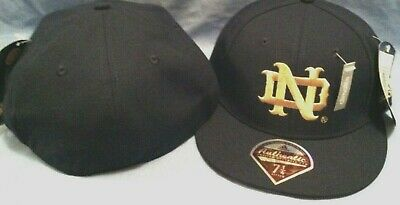615b33e3f7867 University Of Notre Dame Onfield Baseball Flat Brim Fitted Ncaa Cap By  Adidas