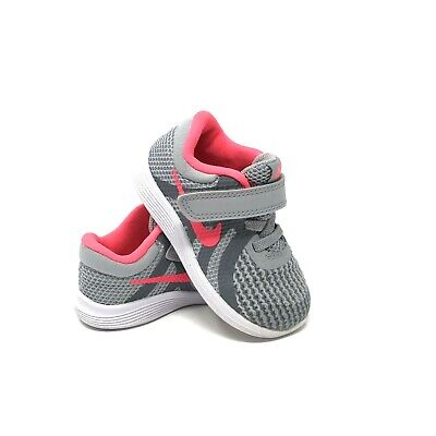 ea6ecb83d13a0  Nike  Revolution 4 Toddler Girl s Sneakers Grey with Pink Size 6c  943308-