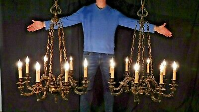 ANTIQUE Dark Bronze GOTHIC BAROQUE 8 Arm 8 Lite Chandelier (2 Avail)  WT: 55 LBS