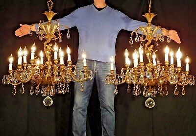 ANTIQUE French Ballerina Fairy Tale Princess 6 Arm 12 Lite Crystal Chandelier