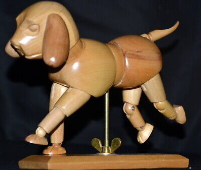 Wood Mannequin Dog Articulated Jointed Artist Model Drawing Art Figure