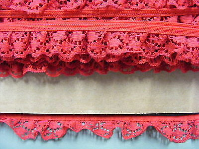 Gathered  Lace Red   13 metres  (228B)
