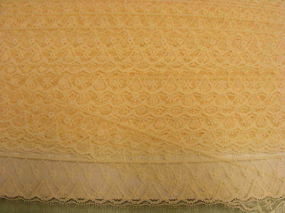 Flat Lace Cream (163a)  - 12 metres