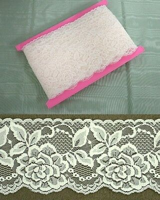 Cream Flat Lace 70mm wide  5 metres (2144)