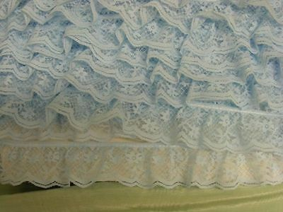 Gathered Lace Blue  5metres  (008) (D)