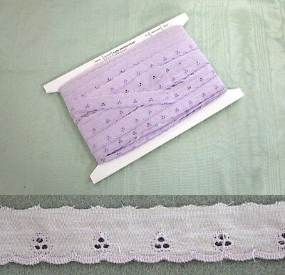 Broderie Anglaise Flat Lilac Lace - 20 metres