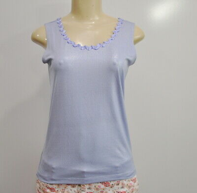 eb6a1e1e31d042 Chicos Travelers Sleeveless Blouse 0 Small Shimmer Periwinkle Tank Top Shell
