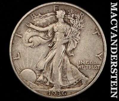 1936 Walking Liberty Half Dollar-Very Fine/extra Fine! Scarce Better Date! #f701