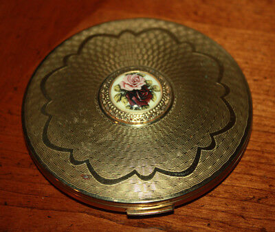 Vintage Stratton Goldtone Mirror Powder Compact Made In England