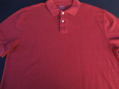 4b21651a800 J CREW MENS L Broken In Rugby Collared Polo Shirt Large Knit Goods ...