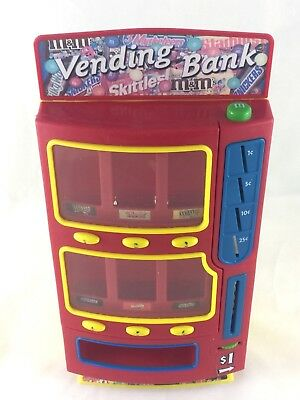 Mars Bars Vending Machine Bank 2004 M&Ms Snickers Skittles Twix Milky Way Candy